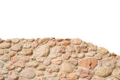Stone wall isolated on white background Royalty Free Stock Images
