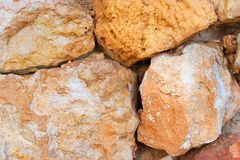 Stone wall of large stones. Royalty Free Stock Image