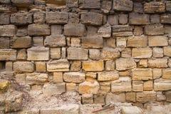 Stone wall limestone Royalty Free Stock Photo