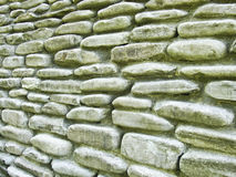 Stone wall in the long term Royalty Free Stock Photo