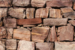 A stone wall in Longtan valley in Luoyang Royalty Free Stock Photo