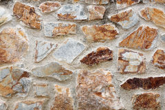 Stone wall that looked old. Stock Photo