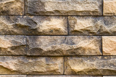 Stone wall made with blocks Stock Images