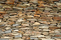 Stone wall. Wall made of flat, thin stones Royalty Free Stock Images