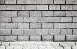 Stone wall made of gray foam concrete blocks Stock Image