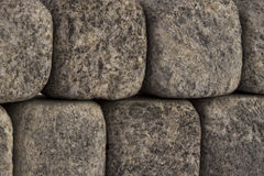 Stone wall. Wall made of grey stones, can be used as background Royalty Free Stock Image