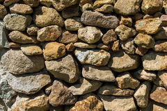 Stone Wall Made Of Rocks Royalty Free Stock Photos