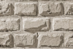 Stone Wall. Wall made from Stones. Closeup view stock image