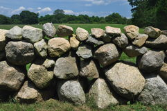 Stone wall on Martha's Vineyard Royalty Free Stock Photography