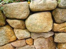 Stone Wall, Martha's Vineyard, Massachusetts. Close up of stone wall in Martha's Vineyard, Massachusetts on sunny day Stock Photo