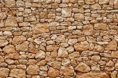 Stone Wall. Masonry built of yellow sandstone Stock Photos