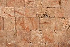 Stone wall of Mayan ruins Stock Images