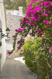Stone wall in Mijas Stock Images