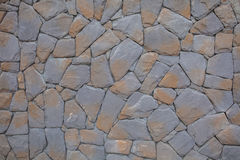 Stone Wall mixed in Orange and Grey Color.  Royalty Free Stock Photo