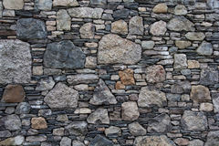 Stone wall. With mixed size stones and different shapes royalty free stock photo