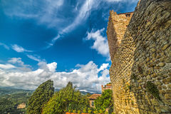 Stone wall in Montecatini Royalty Free Stock Photo
