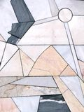 Stone wall, mosaic Stock Photography