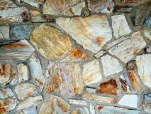 Stone wall. A multicolored flag stone wall Royalty Free Stock Photography