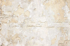 Stone wall with a multilayered old tumbling whitewash texture Stock Photo