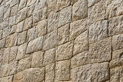 Stone wall in Mycenae royalty free stock photos