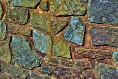 Stone Wall, Natural Stones, Wall Royalty Free Stock Images