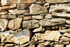 Stone wall. Wall of nature stones, solid rocks royalty free stock image