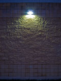 Stone Wall at Night Stock Photos