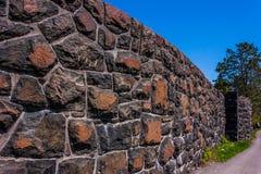 Stone Wall no Trees Royalty Free Stock Image