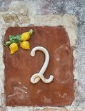 Number 2, decorative house number. Stock Photography