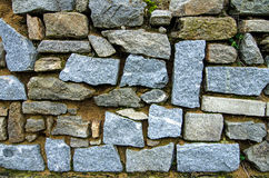Stone wall. Old stone wall for architecture and background Stock Image