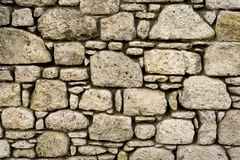 Stone Wall. Old Dirty Stone Wall Background Royalty Free Stock Images
