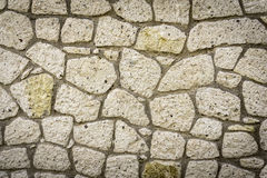 Stone Wall. Old Dirty Stone Wall Background Royalty Free Stock Image