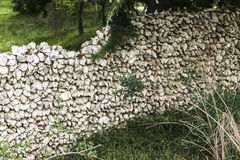 Stone wall. Old wall made of stones Stock Image