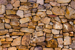 Stone Wall. Old, Stone Wall at Old Salem Museum and Gardens in Winston-Salem, NC Royalty Free Stock Images