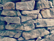 Stone wall old retro vintage Stock Photography