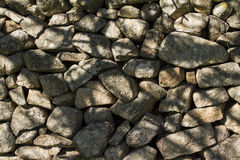 Stone wall. Old town overlapping stones wall Royalty Free Stock Photography