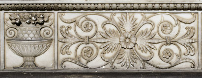 Stone Wall Ornament.  Royalty Free Stock Photo