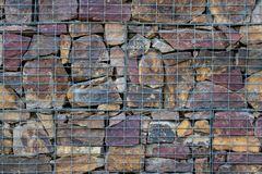 Stone wall. Outdoor background stone stock photography