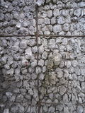 Stone wall outside of the building. Pattern Royalty Free Stock Photography