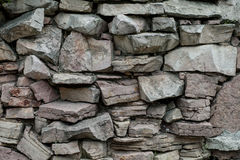 Stone wall in the Park. Royalty Free Stock Photography