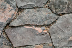 Stone wall in the Park. Royalty Free Stock Images