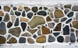 Stone wall. Part of a stone wall, suitable  for background or texture Stock Photo