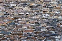 Stone wall in Parthenonas village, Chalkidiki, Greece Royalty Free Stock Image