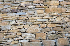 Stone wall pattern. Different sizes of stones make up the pattern for this stone wall Stock Images