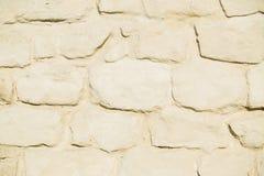 Stone wall pattern. Big concrete bricks outside. Stock Photos