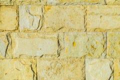 Stone wall pattern. Big concrete bricks outside. Stone wall pattern. Close up of big concrete bricks outside royalty free stock photography