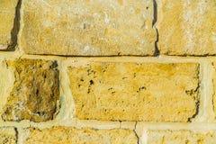 Stone wall pattern. Big concrete bricks outside. stock image