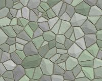 Stone wall pattern grey green Stock Image