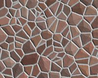 Stone wall pattern rough brown Royalty Free Stock Photo