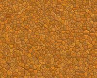 Stone wall pattern small orang Royalty Free Stock Image